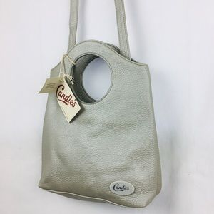 Candies purse bag cross body pebble beach gray